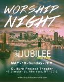Jubilee Worship night flyer